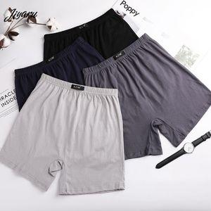 Men Boxers Breathable Cotton The Elderly Boxer Shorts Elasticity Men Solid Underpants Plus Size Male Panties Soft Underwear