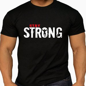 2020 Summer Tee Shirt Quality Mes 'Stay Strong' T-shirts. Weightlifting Bodybuilding Gyms Workout. 5 size Options T-shirt
