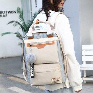 Moderne Dame Womens Wasserdichte Nylon-Schule-Rucksack Spiel-Art Multifuction trvel Collegetaschen für Mädchen 1K4i #