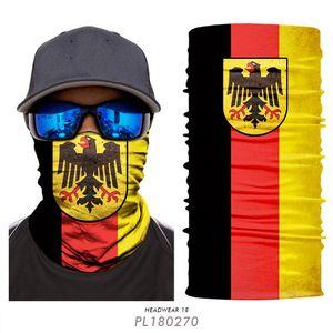100 / pcs Gesichtsmaske Filter cycling Maske Staubmaske Ski Gesichtsschild Mode Sport Balaclava magischer Schal USA Deutschland Schädel 3D Magic Turban