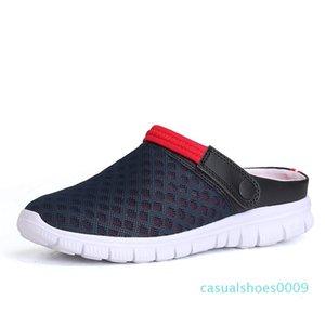 Chaussures d'été pour hommes Slip-on Sandales Big Taille 36-46 respirante Lumière Men Casual Chaussures de plage Chaussons 9 Couleurs C09