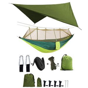 Ultralight Tente Çadır Gölge Hamak ile Cibinlik Plaj Çadır Tente Açık Kamp Ekipmanları İçin Su geçirmez Yatak Asılı ayarlar