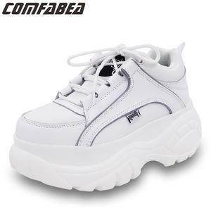 COMFABEA Frauen 2020 beiläufige Plattform Turnschuhe Frühling Schuhe Frauen starke alleinige Creepers Sport-Schuh CX200722