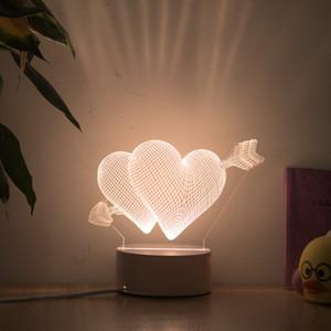 3D Illusion Desk Lamp 3D fantasy night lamp table lamp USB 3D illusion lamp, acrylic creative toy decoration, warm white
