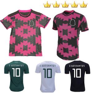 New 2020 2021 Mexico Soccer Jersey home Away White 20 21 Black CHICHARITO LOZANO GUARDADO CARLOS VELA RAUL jerseys Football Shirts