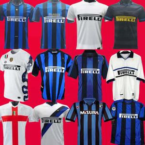 Finale 2009 2010 1988 1989 MILITO SNEIJDER ZANETTI Retro Fußball Jersey Pizarro MILAN 1997 1998 1999 2000 Djorkaeff Baggio RONALDO Inter 2001