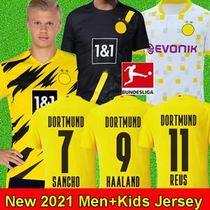 20 21 BVB Borussia Dortmund camisa de futebol HAALAND soccer jersey REUS SANCHO BRANDT HUMMELS PERIGO EMRE PODE PACO ALCACER WITSEL