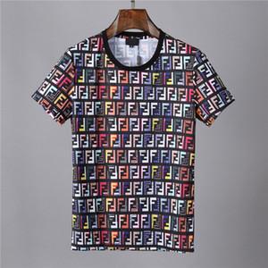 FF Mens Designer T-shirts de luxe Nouveau Marque Designer Mode à manches courtes Tops imprimés Vêtements décontractés en plein air 2020 Été 6 couleurs M-3XL