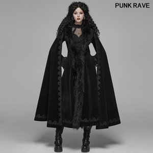 Gothic Vintage Gorgeous Women Long Jackets Classic black Cape Evening Party Stage Performance Trench Coat Punk Rave WY-1035LCF