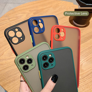 Transparent peau ShockProof Protect Case Cover transparent mat hybride PC TPU Phone pour iPhone 11 Pro Max X XS XR 78 plus d'Apple Cell Phone
