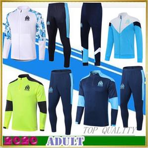 New om 2020 Marseille longo manga da jaqueta de futebol correr Sportswear Treino Full-Zip jaqueta de viagem formação encapuzados jaquetas masculinas