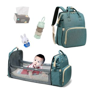 2020 New Mummy Fashion Bag Multi-function Waterproof Large Capacity Outdoor Backpack Diaper Bag