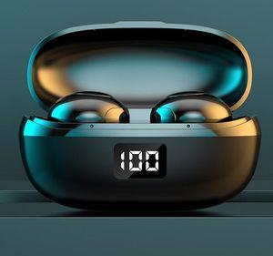 العالمي TWS سماعات بلوتوث ستيريو العرض باس الصوت LED لاسلكية سماعات الأذن رياضة سماعة رأس مع صندوق البيع بالتجزئة
