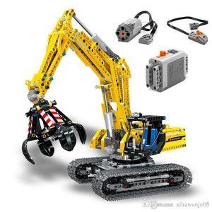 RC 굴착기 전기 트랙 차량이 1 개 빌딩 블록 720PCS Legoing 기술 엔지니어링 굴삭기 벽돌 장난감 어린이 (66)