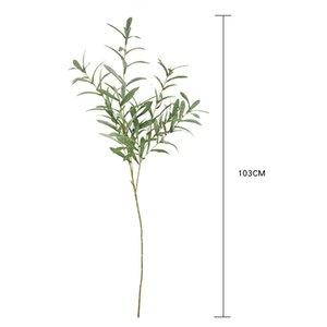 103cm artificielle feuille fleur Branches décoratives maison de mariage Olive Plant Simulation artificielle de mariage décoratif Bouquet