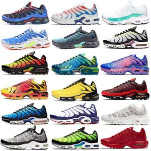TN artı bir gün 3D Gözlük Siyah Volt Güneş Kırmızı Fade Mavi Kahraman Krom Sarı Pembe spor ayakkabılarını koşu ayakkabıları erkekler