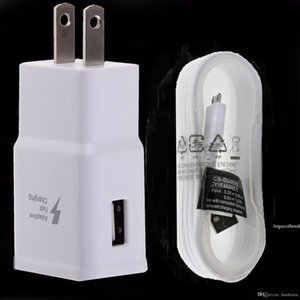 For Samsung Galaxy S6 S7 Edge Note 4 5 Adaptive Fast Rapid Wall Charger 5ft USB Cable cord