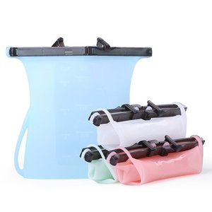 New arrival Reusable Refrigerator Fresh Bags Folding Food Sealing Storage Bag Home Food Grade Silicone Fruit Meat Kitchen Organizer