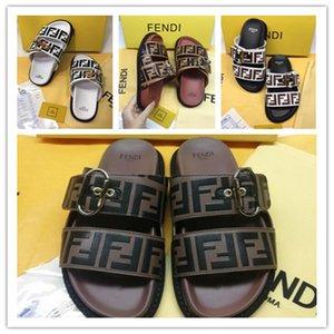diseño de lujo de las mujeres Zapatillas ff gg punta abierta Slip En verano plana Diapositivas Playa Thong V Zapatos tirón Mujer flopes canal de moda las sandalias