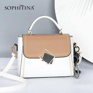 SOPHITINA Mode Damenschultertasche Metallreißverschluss Klappen-Tasche Multifunktions-Fest Messenger Bags Frauen-Freizeit-Handtasche E82
