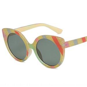взрыв цвета золотого ЛУКА Радуги солнце солнцезащитных очков косые полосы квадрат солнечных очки уличного выстрел fashionsunglasses