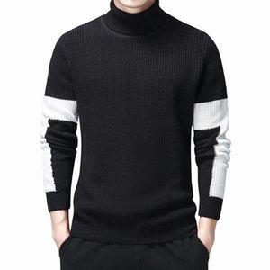 남성 터틀넥 스웨터 가을 겨울 두꺼운 따뜻한 스웨터 남성 니트 코튼 스웨터 터틀넥 점퍼 의류 탑스
