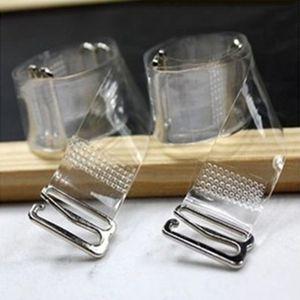 3Pairs = 6PC Metal Toka Sütyen sapanlar Kemer Kadın Elastik Şeffaf Silikon Sütyen sapanlar Ayarlanabilir Intimates Aksesuarları