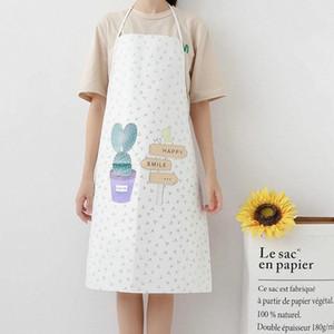 Yfashion Nordic Style creativi della famiglia grembiule impermeabile coreano Moda Bakery Cucina antivegetativa a casa metà grembiule blu appron Nero 3p5D #