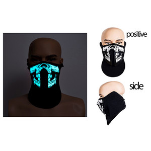 Fashion 41 Styles EL Mask Flash LED Mask With Sound Active for Dancing Riding Skating Party Voice Control Party Masks