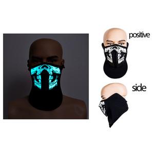 Moda 41 estilos EL máscara de la máscara flash LED con sonido activo para Dancing máscaras del partido de Control de montar a caballo del fiesta del patinaje de voz