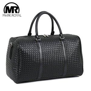 MARKROYAL большой емкости Кожа PU Дорожная сумка Многофункциональный водонепроницаемый мешок плеча для мужчин Tote багажа Duffle Сумки CX200718
