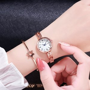 DZG women's bracelet Quartz Bracelet small dial steel band quartz watch TikTok simple student watch