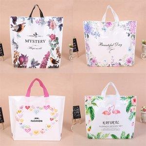 Stampa di modo Borsa della spesa donna di plastica del regalo avvolgere sacchetti di immagazzinaggio Flamingo Cuore borsa di disegno Beautiful Day 0 75yl3 Bb
