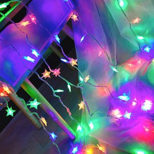 5M LED Warm White Star String Lights LED Fairy Lights Christmas Wedding decoration Battery Operate twinkle(not include)