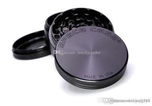 Marke CNC Aluminium Space Case Grinder Grinder Metall Grinder 4 Schicht 63cm 55mm-Schwarz-Silber erhältlich Hoch Clone