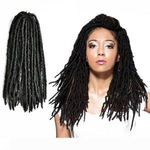 24-80 steht packen Nu Faux Locs Curly Crochet Geflechte Twist Synthetic Tiny Nu Locs Flechthaar Frisur Haar-Verlängerungen