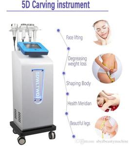 Zayıflama Makinesi şekillendirme Çok fonksiyonlu Yüz Germe 80k ultrasonik kavitasyon 5DCarving Enstrüman Rf Vakum Rf Vakum vücut