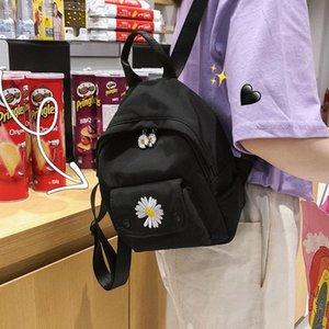 Рюкзак Женщины Для школы College Girls 2020 новый милый мультфильм Маленький желтый плеча сумки Студенты двух частей сумки Рюкзаки Qhtx #