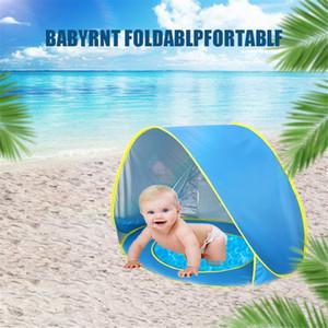 Portable Baby Up Beach Tent Windproof Kids Beach Shade Sun Tent UV Protection Summer Vacation Children Umbrella