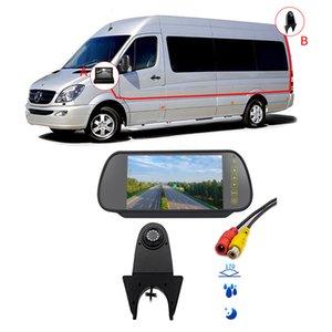 Водонепроницаемый ночного видения 3Rd Brake Light Камера заднего вида для Sprinter Объемный + 7-дюймовый HD Reverse зеркало заднего вида автомобиля
