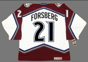 Real Men real Full embroidery #21 PETER FORSBERG 1996 .2001 Hockey Jersey or custom any name or number Jersey