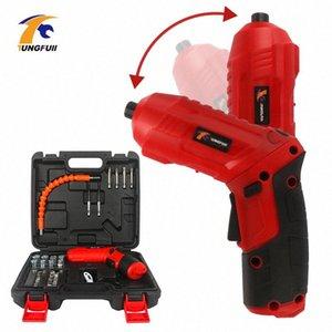 Inalámbricos eléctricos puntas de destornillador kit 4.2V recargable de potencia taladro tornillo Driver Kit con luz LED Controlador Mini Wireless Power K02U #
