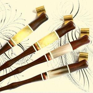 Wholesale-100 pedazos por la porción hecha a mano de madera sólida Copperplate Script del antiguo oblicua Dip titular de la pluma del mejor regalo de la caligrafía Dip Pen 4s3S #