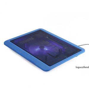 Tutucu Pad Tabanı Büyük Fan USB Soğutma Evrensel altında 14 inç Laptop Cooler Ücretsiz Kargo Standı