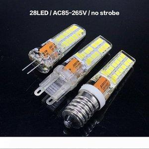 실내 크리스탈 샹들리에 48 개의 LED (28 개)의 LED 2835 SMD 스트로보 실리콘 램프 G9 G4 E14 AC85-265V