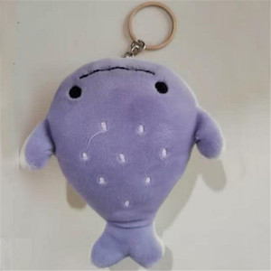 50PCS Plush Flat Head Little Whale Toy Small Pendant Creative Cute Marine Animal Series Stuffed Smiley Shark Toys Explosion 12CM