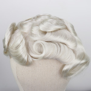 Hot vendendo Tipo Loiro Humana peruca de cabelo para a Amarrado recolocação do cabelo Remy Homens Sistema Brasileiro de 8x10 completa PU Mão Mens peruca peruca