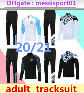 2019/20 Manchester City TRACKSUIT muta tuta TRACKSUIT completi SET FULL ZIPPER Jacket Pants DE BYUYNE 2019 2020 manchester GIACCA VESTITO chandal suit