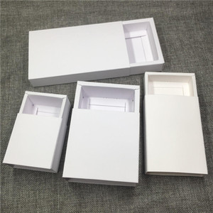 20PCS Lot White Retail Crafts Kraft Drawer Boxes Paper Gift Packaging Cardboard Boxes For  Lighter Crafts Hold DIY