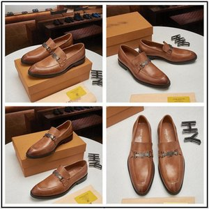 2020 Men leather shoes luxury handmade loafers slip on italian designer male dress shoe fashion Party Wedding Shoes 38-45